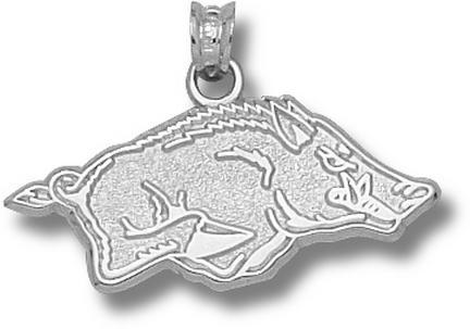 """Arkansas Razorbacks 1/2"""" Athletic """"Razorback"""" Pendant - Sterling Silver Jewelry"""
