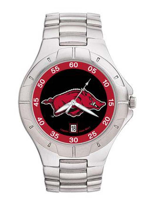 Arkansas Razorbacks NCAA Men's Pro II Watch with Stainless Steel Bracelet
