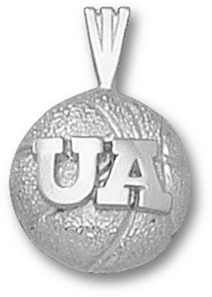 Arizona Wildcats Ua Basketball Pendant Sterling Silver Jewelry