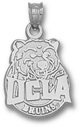 Ucla Bruins Circle Ucla Joe Pendant Sterling Silver Jewelry