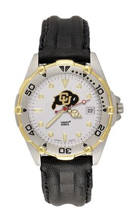 Colorado Buffaloes Men's All Star Watch with Black Leather Band