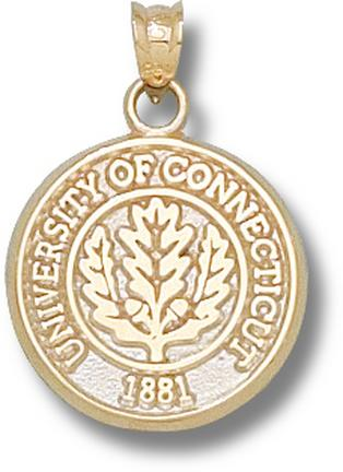 Connecticut Huskies Oakleaf Seal Pendant – 10KT Gold Jewelry
