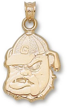 "Georgia Bulldogs ""Bulldog"" Lapel Pin - Sterling Silver Jewelry"