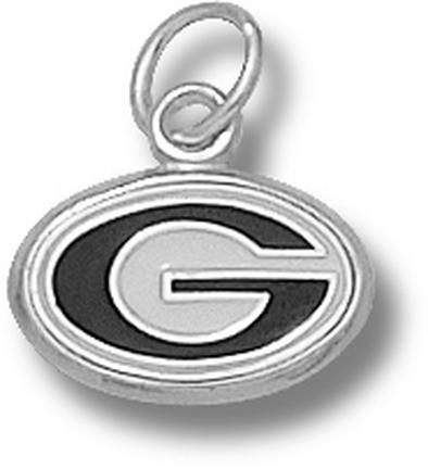 Georgia Bulldogs Enamel G 5|16 Charm – Sterling Silver Jewelry