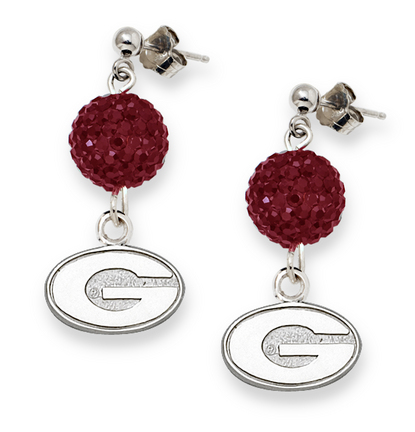 Georgia Bulldogs Ovation Crystal Earrings