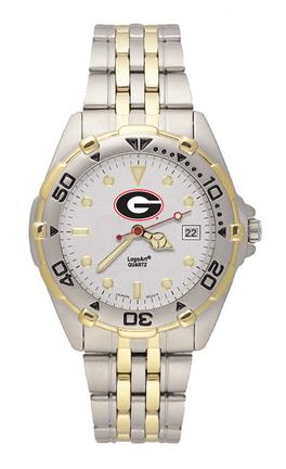 Georgia Bulldogs G All Star Watch with Stainless Steel Band - Men's