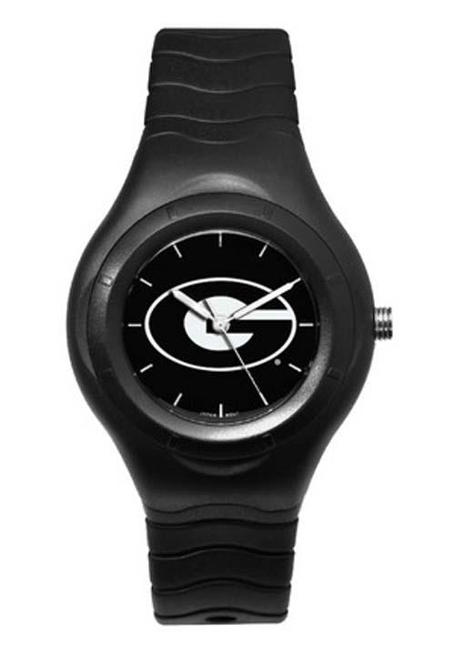 Georgia Bulldogs Shadow Black Sports Watch with White Logo