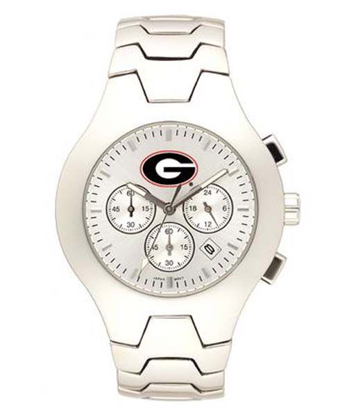 Georgia Bulldogs NCAA Men's Hall of Fame Watch with Stainless Steel Bracelet