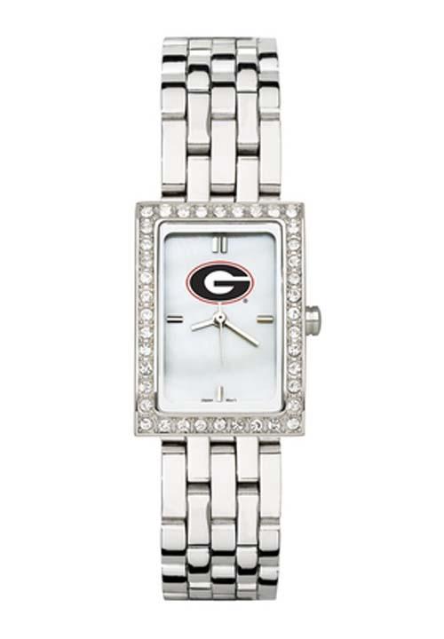 Georgia Bulldogs Women's Allure Watch with Stainless Steel Bracelet