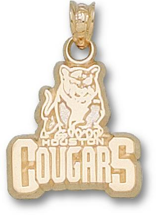 "Houston Cougars New ""Cougar Head"" 5/8"" Lapel Pin - Sterling Silver Jewelry"
