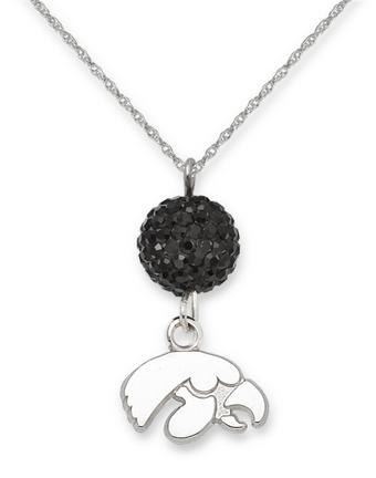 Iowa Hawkeyes Ovation Crystal Necklace