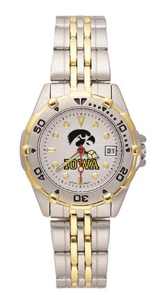 Iowa Hawkeyes All Star Watch with Stainless Steel Band - Women's