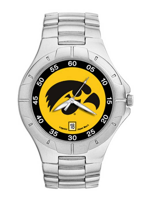 Iowa Hawkeyes Iowa NCAA Mens Pro II Watch with Stainless Steel Bracelet