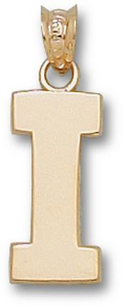 "Illinois Fighting Illini Block ""I"" 5/8"" Lapel Pin - Sterling Silver Jewelry"