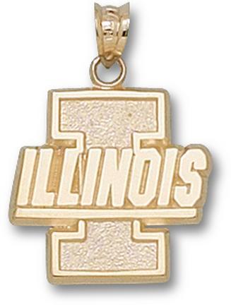 "Illinois Fighting Illini New ""I"" ""Illinois"" Lapel Pin - Sterling Silver Jewelry"