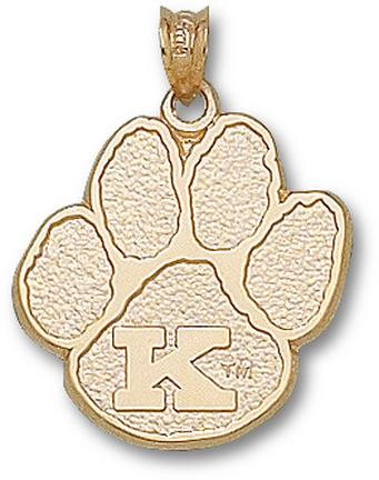 """Kentucky Wildcats Large """"Paw with K"""" Lapel Pin - 14KT Gold Jewelry"""