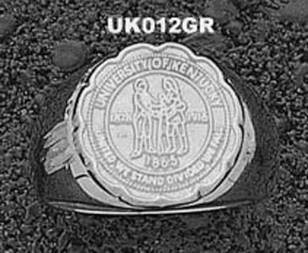 Kentucky Wildcats Seal Mens Ring Size 10 3|4 – Sterling Silver Jewelry