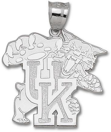 Kentucky Wildcats Giant 1 5/8 W X 1 5/8 H Wildcat 1 5/8 Pendant Sterling Silver Jewelry