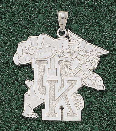 "Kentucky Wildcats ""Wildcat"" 1 5/8"" Lapel Pin - Sterling Silver Jewelry"