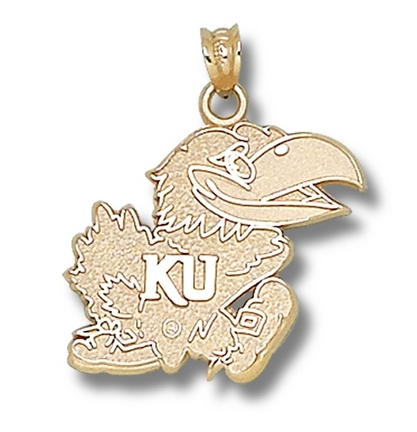 "Kansas Jayhawks ""Jayhawk"" Lapel Pin - 10KT Gold Jewelry"
