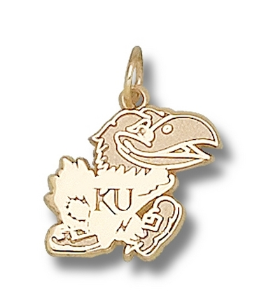 "Kansas Jayhawks Polished ""Jayhawk"" 1/2"" Lapel Pin - 10KT Gold Jewelry"
