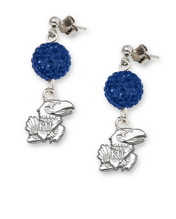 Kansas Jayhawks Ovation Crystal Earrings