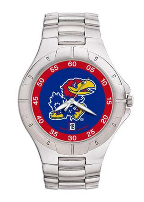 Kansas Jayhawks NCAA Men's Pro II Watch with Stainless Steel Bracelet