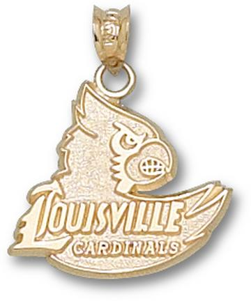 """Louisville Cardinals """"Louisville Cardinals Head"""" 5/8"""" Lapel Pin - Sterling Silver Jewelry"""