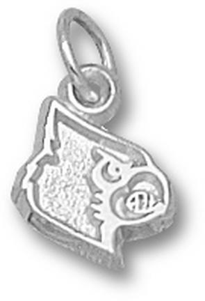 Louisville Cardinals 3/8 Athletic Cardinal Head Charm Sterling Silver Jewelry