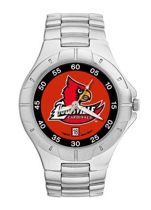 Louisville Cardinals NCAA Mens Pro II Watch with Stainless Steel Bracelet