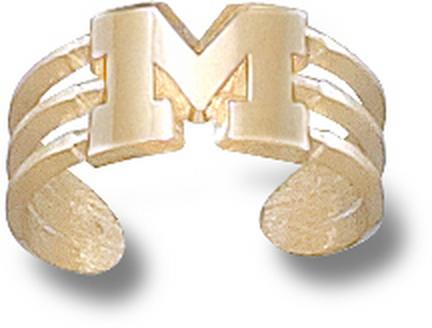 "Michigan Wolverines ""M"" Toe Ring - 10KT Gold Jewelry"