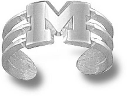 "Michigan Wolverines ""M"" Toe Ring - Sterling Silver Jewelry"