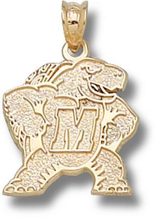 """Maryland Terrapins New """"Terrapin M"""" Lapel Pin - 10KT Gold Jewelry"""
