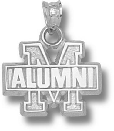 Maryland Terrapins M Alumni Pendant Sterling Silver Jewelry