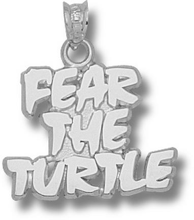 Maryland Terrapins Fear The Turtle 5/8 Pendant Sterling Silver Jewelry