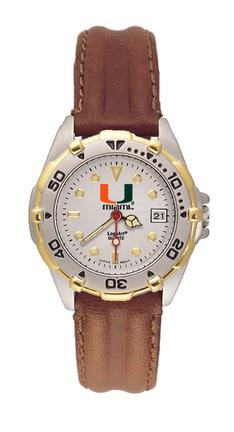"""Miami Hurricanes """"U with Miami"""" All Star Watch with Leather Band - Women's"""