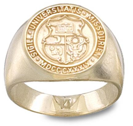 Missouri Tigers Seal Mens Ring Size 10  14KT Gold Jewelry