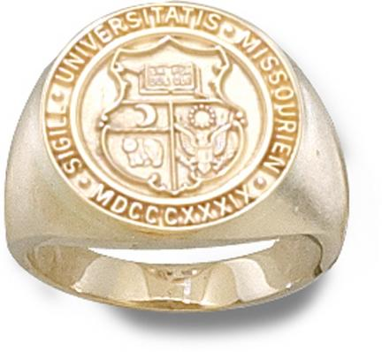 Missouri Tigers Seal Ladies Ring Size 6 12  14KT Gold Jewelry