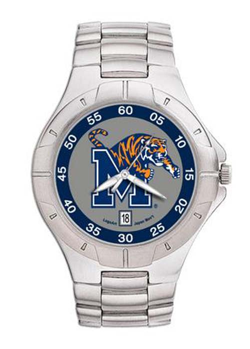 Memphis Tigers NCAA Mens Pro II Watch with Stainless Steel Bracelet