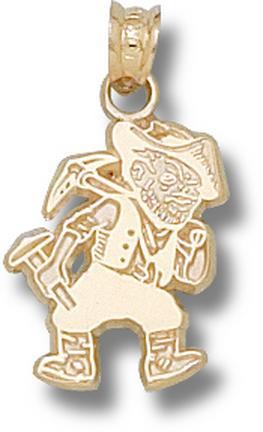 """Missouri (Rolla) Miners """"Joe Miner"""" Lapel Pin - 10KT Gold Jewelry"""