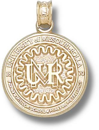 """Missouri (Rolla) Miners """"Seal"""" Lapel Pin - 10KT Gold Jewelry"""