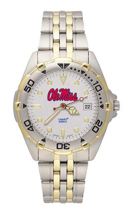 """Mississippi (Ole Miss) Rebels """"Ole Miss"""" All Star Watch with Stainless Steel Band - Men's"""