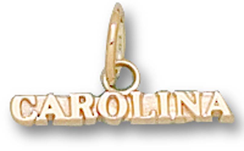 North Carolina Tar Heels Carolina Charm - 14KT Gold Jewelry