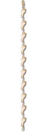 North Carolina Tar Heels Tar Heel 38 7 12 Bracelet 14KT Gold Jewelry