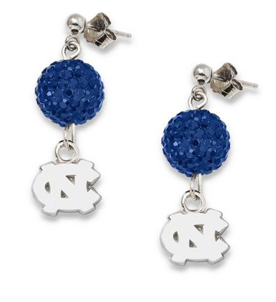 North Carolina Tar Heels Ovation Crystal Earrings