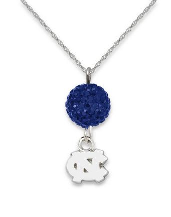 North Carolina Tar Heels Ovation Crystal Necklace