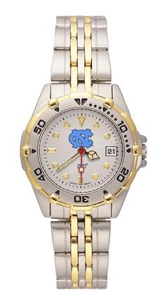 North Carolina Tar Heels NC All Star Watch with Stainless Steel Band - Women's