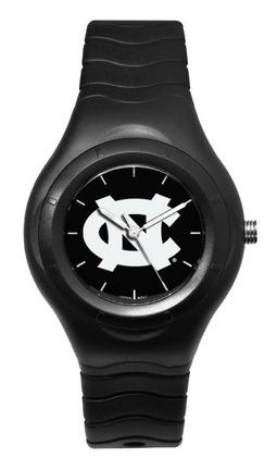 North Carolina Tar Heels Shadow Black Sports Watch with White Logo