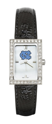 North Carolina Tar Heels Women's Allure Watch with Black Leather Strap