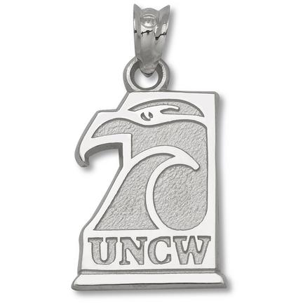 North Carolina (wilmington) Seahawks 5/8 Uncw Seahawk Pendant Sterling Silver Jewelry
